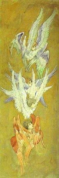 Seraphim sketch for the cathedral of st vladimir in kiev 1885 96 xx the russian museum st petersburg russia